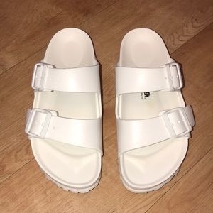 Birkenstock Arizona Essentials Eva White Sandals